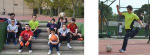 Fotos actividades extraordinarias, chavales en fútbol y baloncesto, Asociación VIVO, ocio inclusivo y tiempo libre con y sin discapacidad, en Madrid