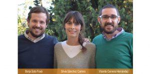 Los tres coordinadores de la Asociación VIVO: Borja Soto, Silvia Sáncez y Vicente Cervera. Ocio inclusivo y tiempo libre con y sin discapacidad, en Madrid.